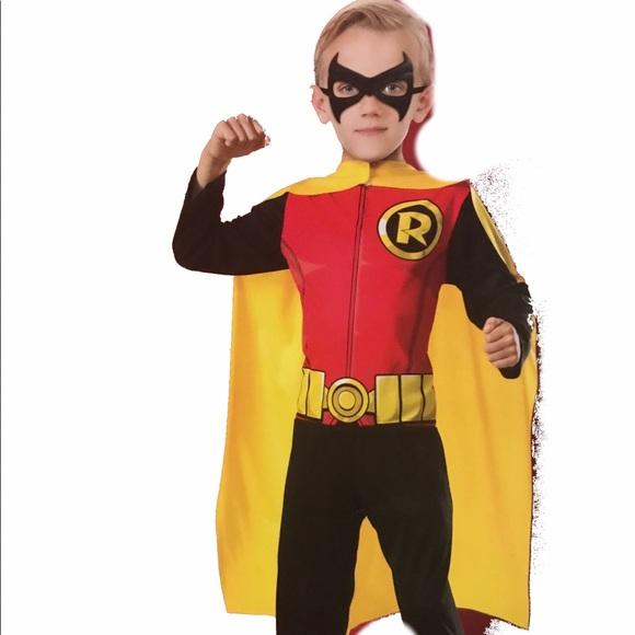 robin boys halloween costume size large 10 12 new